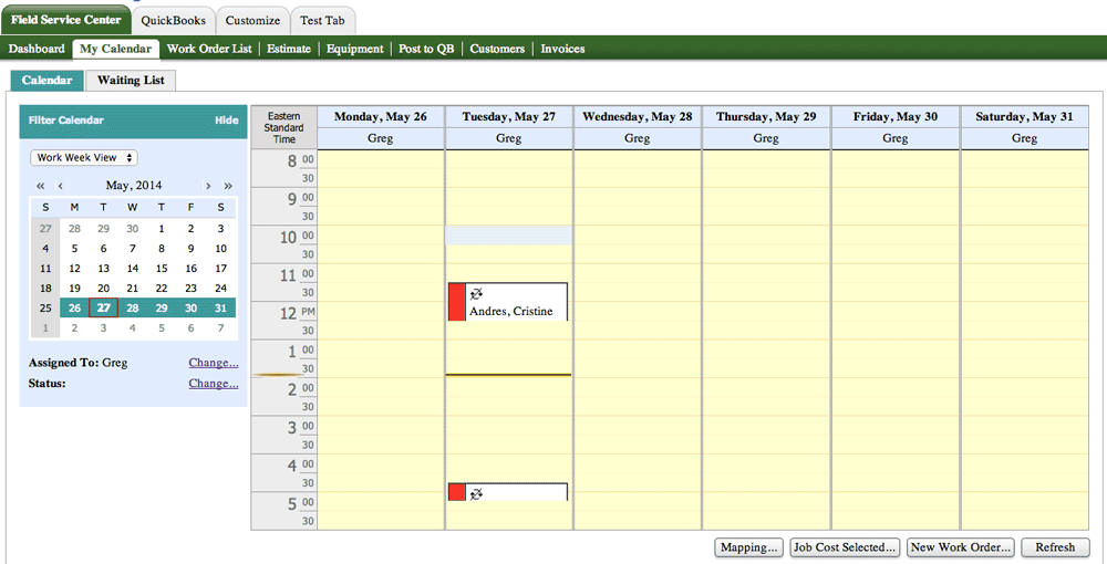 How to Change Your Work Order Calendar in Method:CRM