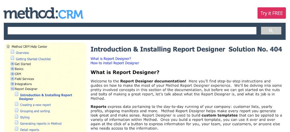 Rejoice! Method:CRM Report Designer documentation & videos!