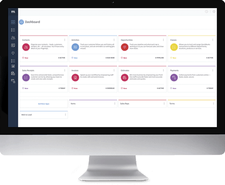 Method:CRM Opportunity Screen showing it's different stages.