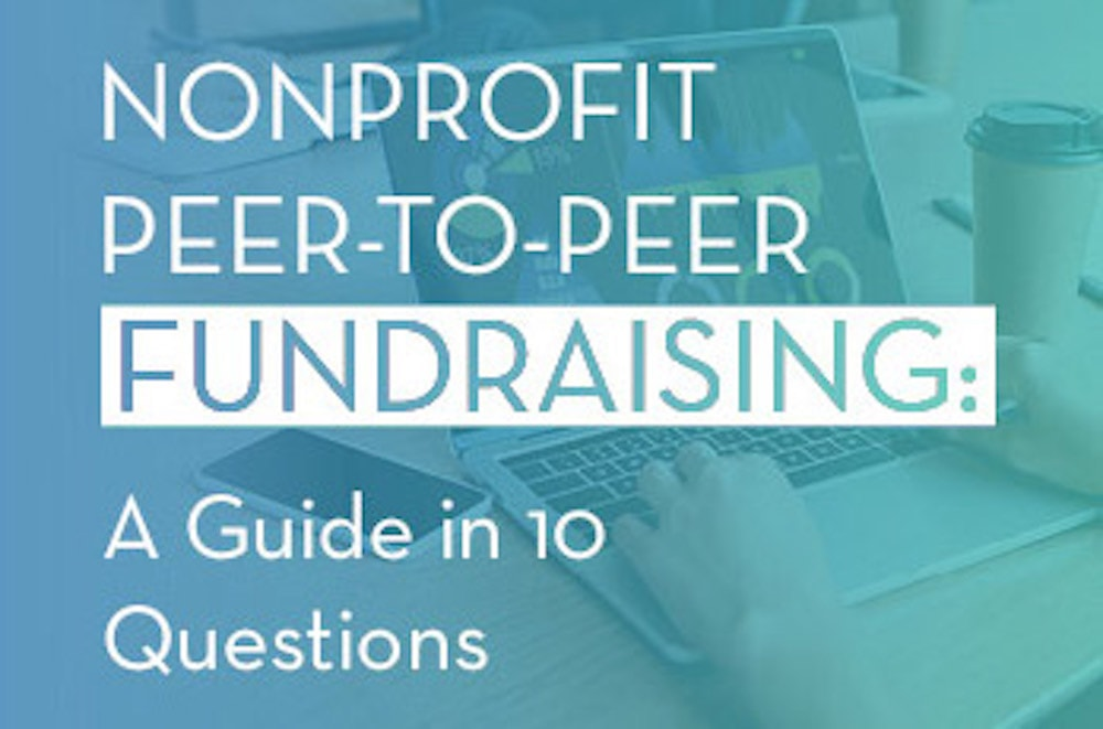 Nonprofit peer-to-peer fundraising guide