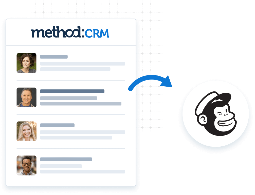 Create mailing lists with Method's Mailchimp CRM