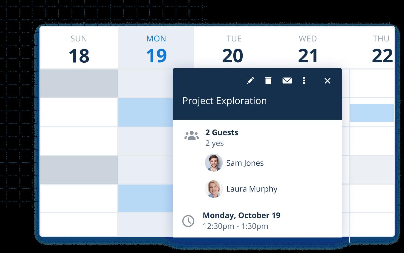 Event summary in Google Calendar